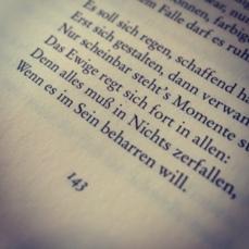 Als sie spät am Nachmittag wieder zu Hause waren, setzte Matthias Sobiel sich sofort an seinen Computer. Schnell fand er heraus, dass es sich bei dem vermeintlichen Dreizeiler um einen Textbrocken handelte, der aus einem Goethe-Gedicht herausgelöst worden war.